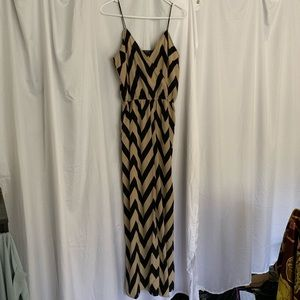 Chevron jumpsuit with pockets
